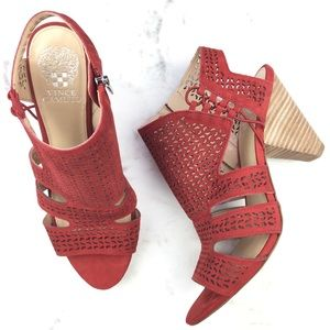 Vince Camuto Esten red Perforated leather Sandal 9